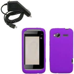iFase Brand HTC Radar Combo Solid Purple Silicone Skin Case Faceplate