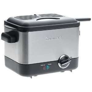 Cuisinart CDF 100 Compact 1.1 Liter Deep Fryer, Brushed Stainless
