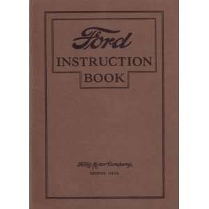 1927 FORD MODEL T Owners Manual User Guide Automotive