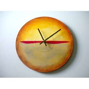 Bearly Art Hand Painted Modern Abstract Wall Clock Adapted