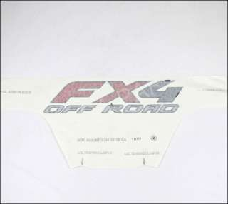 BRAND NEW OEM FX4 OFF ROAD DECAL SILVER & RED FORD SUPER DUTY #3C3Z
