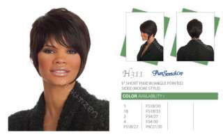 100% Human Hair Pure Stretch Cap Short Full Wig H 311