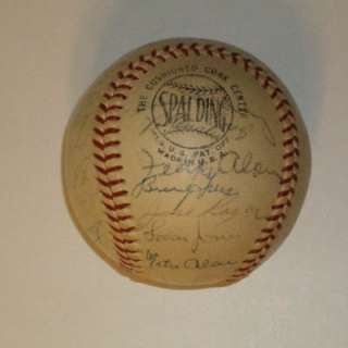 1961 SAN FRANCISCO GIANTS Signed Team Ball SF MAYS, MCCOVEY, MARICHAL