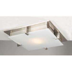 PLC Lighting 908/CFL Polipo Nickel Flush Mount