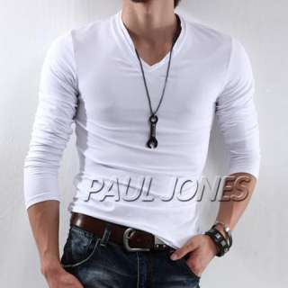Stylish Strong Mens Slim fitted T Shirt V neck design 95% cotton