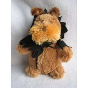 Plush Dog with Black Cape Singing and Dancing to Michael