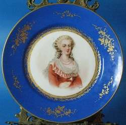 Hand Painted Signed French Signed Sevres Plate c. 1900