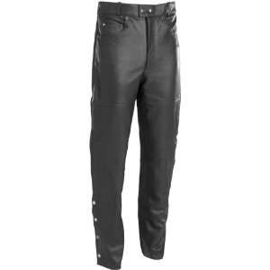 RIVER ROAD 5 POCKET LEATHER PANTS BLACK 2XL Automotive