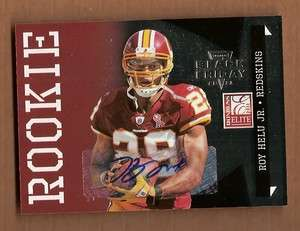2011 Panini Elite Black Friday Roy Helu Jr Auto /10 Autograph