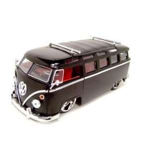 Microbus Vw 124 Scale Diecast Model Black  Toys & Games