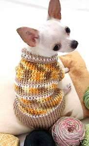 XXS XS Handmade Dog Puppy Apparel Costume Clothing Sweater D853 TeaCup