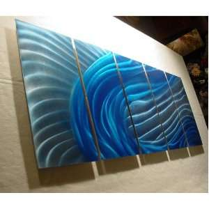 inch x 24 inch Original Abstract Metal Painting Wall Art and Sculpture