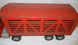 Tonka Toy Truck 5th Wheel Livestock Trailer 1950s Steel 24