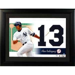Alex Rodriguez New York Yankees Unsigned Jersey Numbers