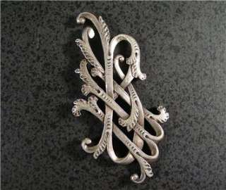 Antique Imperial Russian Silver Monogram Engraved Rare