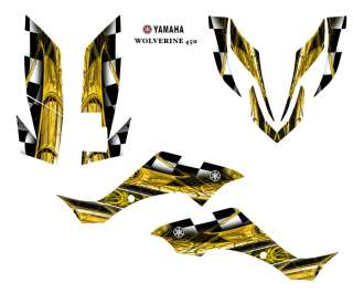 YAMAHA Wolverine 450 ATV Graphic Decal Sticker Kit #2001YELLOW