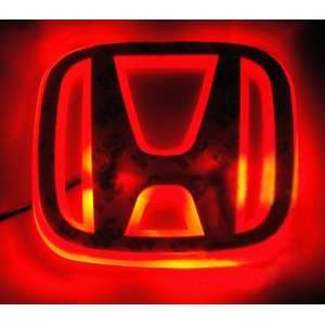 Auto led red and white car logo light for HONDA NEW FIT 08
