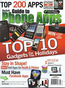 BECKETT PHONE APPS MAGAZINE DROID FACEBOOK APPLE IPHONE