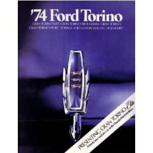 1974 FORD TORINO Sales Brochure Literature Book Piece