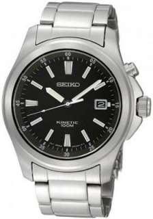 Seiko Mens Stainless Steel Kinetic Quartz Watch   SKA463