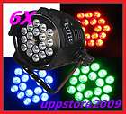6pcs 18x4w tri color rgb in 1 led par64 $ 1179 00  or best
