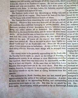 Rare CONFEDERATE ILLUSTRATED 1863 Civil War Newspaper *