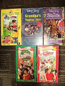 Lot of 5 WEE SING VIDEOS Together, Singdom, Christmas, Grandpas