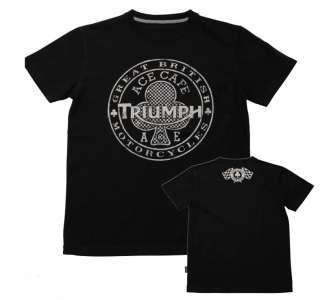 TRIUMPH Ace Cafe Short Sleeve T SHIRT ALL SIZES NWT Black