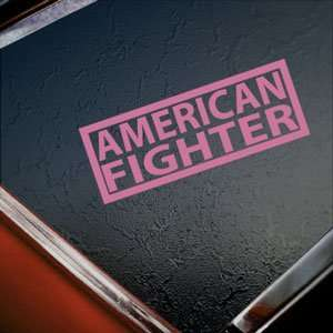 AMERICAN FIGHTER Pink Decal Car Truck Window Pink Sticker