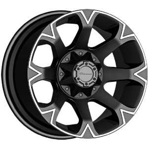 Giovanna D8V Matte Black Wheel with Machined Lip (20x10
