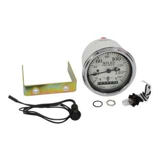 Stewart Warner Wing Series White Electric Speedometer