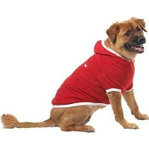 Pup Crew Red Pocket Fleece Dog Hoodie, XX Small Pet