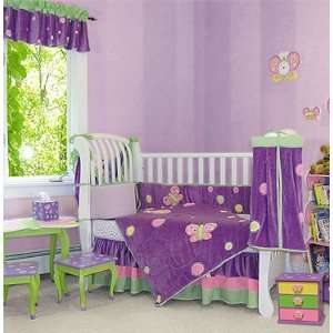 Baby Butterfly 4 Pc Crib Bedding Set by Trend Lab Baby