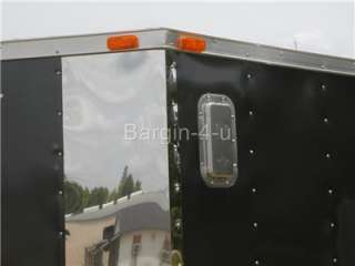 NEW 12 6x12 V Nosed Motorcycle Enclosed Cargo Trailer