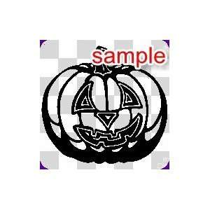 RANDOM HALLOWEEN PUMPKIN 10 WHITE VINYL DECAL STICKER