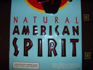 Natural American Spirit Metal Sign 3D Lettering & Image Tobacco