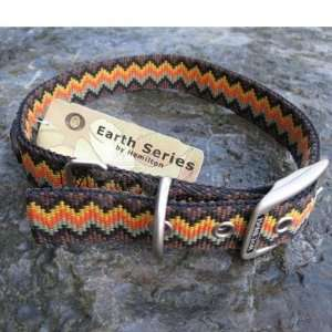 Hamilton Nylon Dog Collar Brown Weave 1 x 24 inch Pet