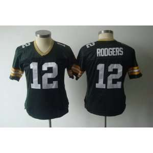 green bay packers #12 aaron rodgers green women jersey