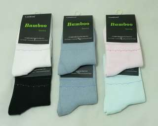 LANDISUN WOMEN BAMBOO QUARTER SOCKS S132 (1 PAIR) ECOFRIENDLY 5 COLOR