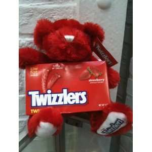 Twizzler Red Plush Teddy Bear (with candy included) Toys