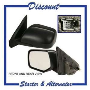 QP F4097 a Ford Unpainted Power Driver Side Mirror