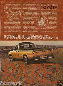Toyota Mojave Limited Edition Truck Ad    Hot Rod Magazine, April