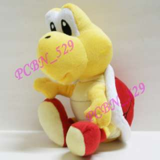 New Super Mario Brothers Plush Figure   71/2 Red Koopa Troopa