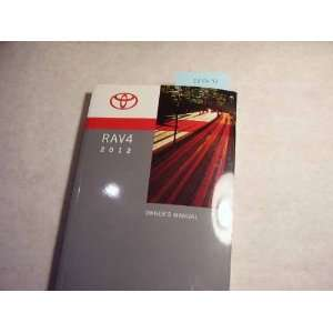 2012 Toyota Rav4 Owners Manual Toyota Books