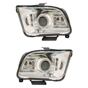 FORD MUSTANG 05 09 PROJECTOR HEADLIGHT G2 HALO CHROME CLEARCCFL(2010