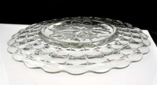 Huge Indiana Glass Constellation Grape Torte Plate Salver Chop Plate