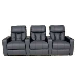 12002 Home Theater Seating   Row of 4 (Black)