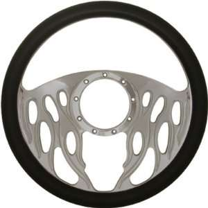 14 Chrome Billet Aluminum Steering Wheel w/ Half Wrap   9
