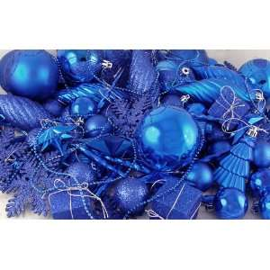 125 Piece Club Pack of Shatterproof Lavish Blue Christmas