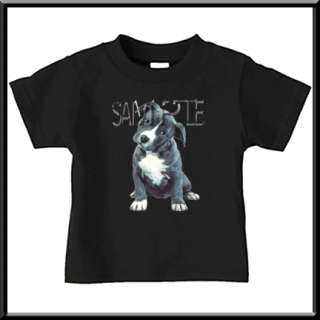 Blue American Pit Bull Puppy T Shirt INFANT TODDLER